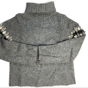 American Eagle Sweater Grey Wool Zipper Cuffs